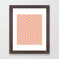 Colored Hexies Framed Art Print