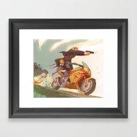 Agent Calvin And Hobbes:… Framed Art Print