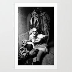 Nurse & Clowns Art Print