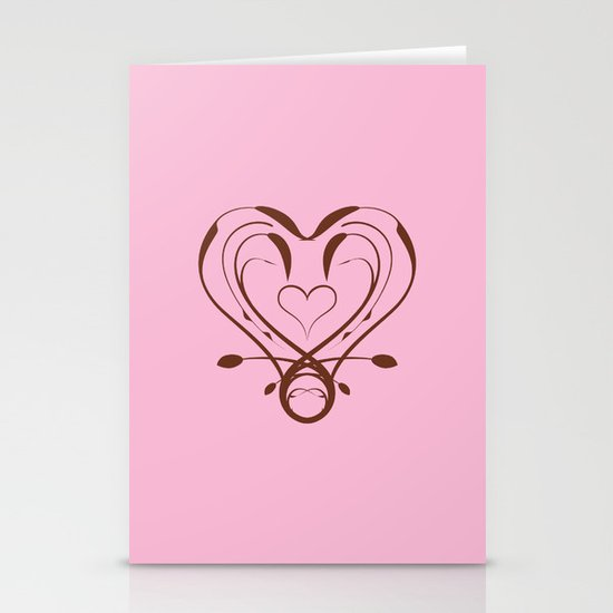 Imperial Heart Stationery Card