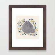 Kitch Cat Framed Art Print