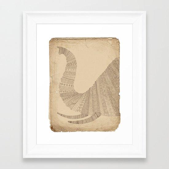 Elephant (On Paper) Framed Art Print