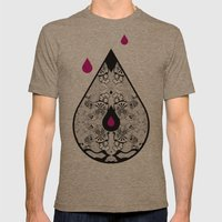 Drop Mens Fitted Tee Tri-Coffee SMALL