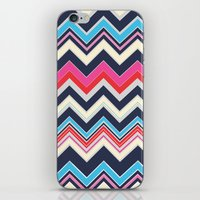 Navy Pink Chevron iPhone & iPod Skin