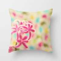 Pastel Obsession Throw Pillow