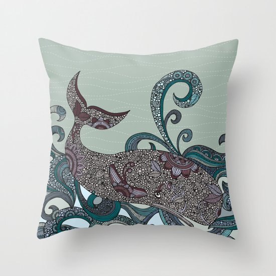 Deep Blue Me Throw Pillow