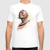 KENYA  Mens Fitted Tee White SMALL