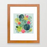 Succulent Circles Framed Art Print