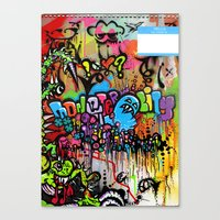 A Monster City Hello Canvas Print