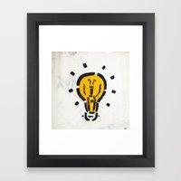It's A Brilliant Idea... Framed Art Print