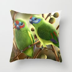 Double-eyed Fig Parrot Throw Pillow