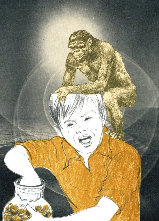 Who's The Monkey, In This Monkey World ? Art Print