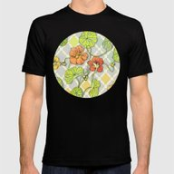 Climbing Nasturtiums In … Mens Fitted Tee Black SMALL