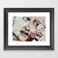 Lichtenstein - a Portrait Framed Art Print