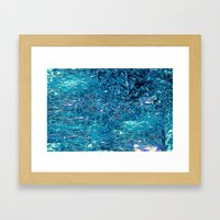 Broken and blue Framed Art Print
