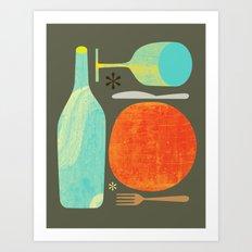 Wine & Dine Kitchen Art Art Print