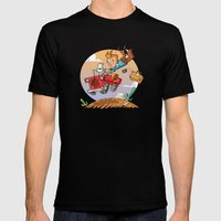 Tintin and Snowy! Mens Fitted Tee Black SMALL