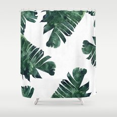 Banana Leaf Watercolor P… Shower Curtain