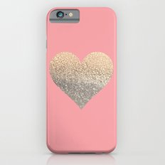 GOLD HEART CORAL iPhone 6 Slim Case