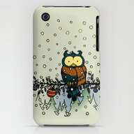 Owl In The Snow V2 iPhone (3g, 3gs) Slim Case