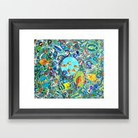 Fish Party Framed Art Print