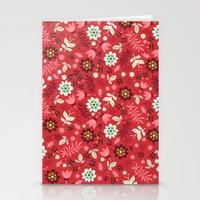 Fresh Blossoms (Reds) Stationery Cards