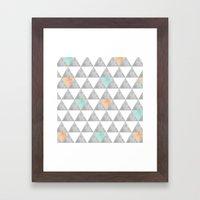 Tri-angle Framed Art Print