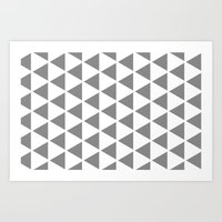 Sleyer Grey on White Pattern Art Print