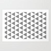 Sleyer Grey On White Pat… Art Print
