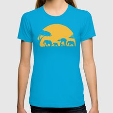 Unforgettable Walk Womens Fitted Tee Teal SMALL