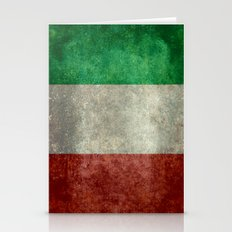 The National Flag Of Ita… Stationery Cards