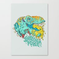 Jurassick Puke Canvas Print