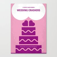 No437 My Wedding Crashers minimal movie poster Canvas Print