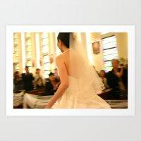 runaway bride Art Print