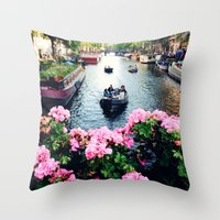 in love with Amster  Throw Pillow