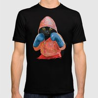 Boxing Cat 2  Mens Fitted Tee Black SMALL