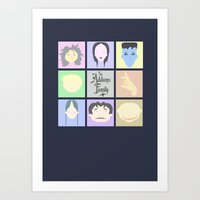 The Addams Family  Art Print
