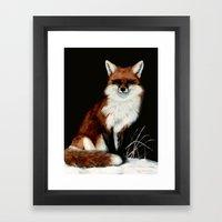 Red Fox painting Framed Art Print
