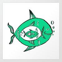 It's a big fish kind of world! Art Print