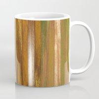 wood panel multicolor Mug