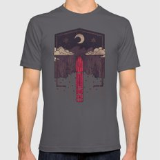 The Lost Obelisk Mens Fitted Tee Asphalt SMALL