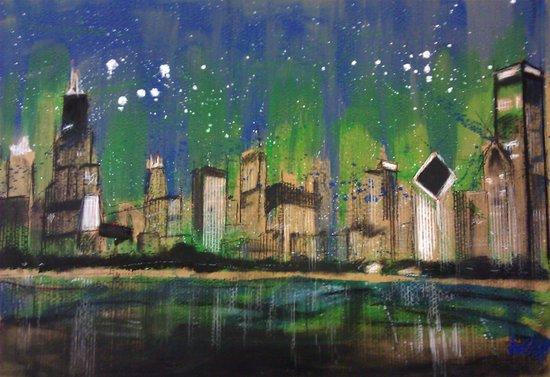 Chicago Night Canvas Print