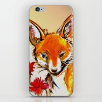 Fox in Sunset iPhone & iPod Skin