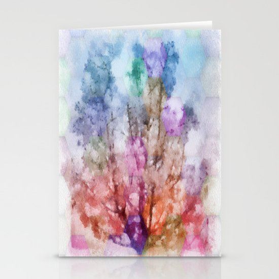Independent tree  Stationery Card