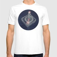 Joystick #04 Mens Fitted Tee White SMALL