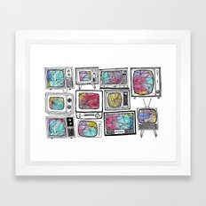 colour tv Framed Art Print