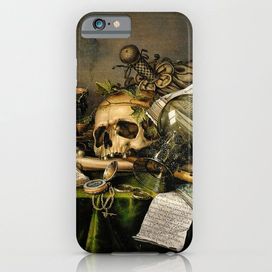 Vintage Vanitas- Still Life with Skull iPhone & iPod Case