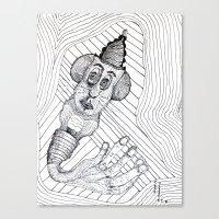 Mouse Fingers Canvas Print