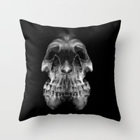 Skully Throw Pillow