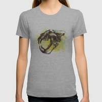 Skull 3 Womens Fitted Tee Athletic Grey SMALL